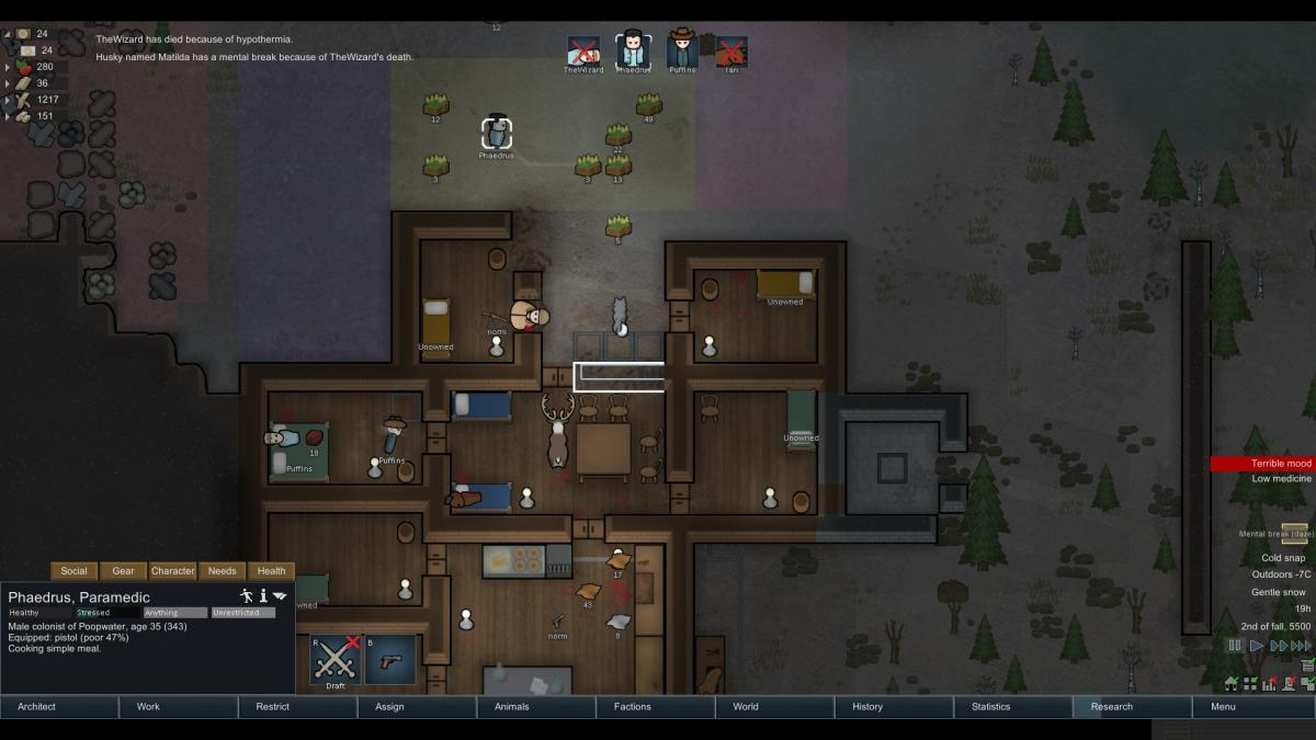 Rimworld Will Eat Frozen Food